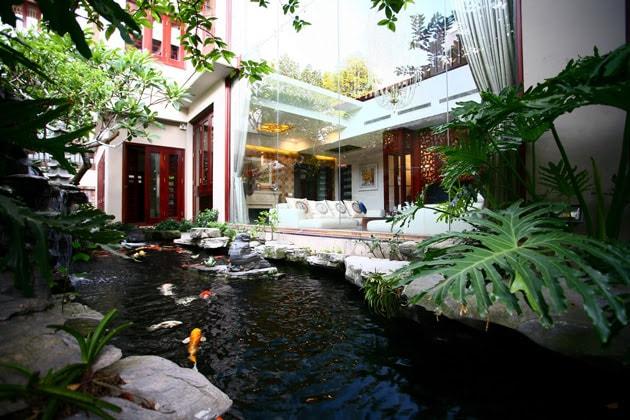 Biệt thự sân vườn đẹp mắt mang đậm chất Á Đông 3