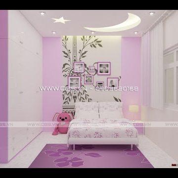 Các mẫu thiết kế phòng ngủ bé gái siêu dễ thương