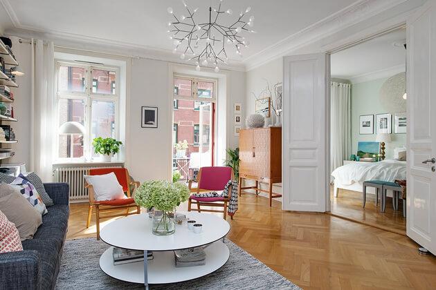 Mê tít cách trang trí căn hộ Scandinavian truyền cảm hứng đầy màu sắc 2