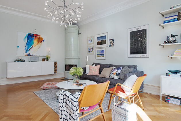Mê tít cách trang trí căn hộ Scandinavian truyền cảm hứng đầy màu sắc 3