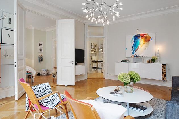 Mê tít cách trang trí căn hộ Scandinavian truyền cảm hứng đầy màu sắc 6