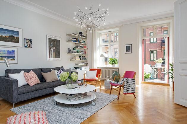 Mê tít cách trang trí căn hộ Scandinavian truyền cảm hứng đầy màu sắc 7