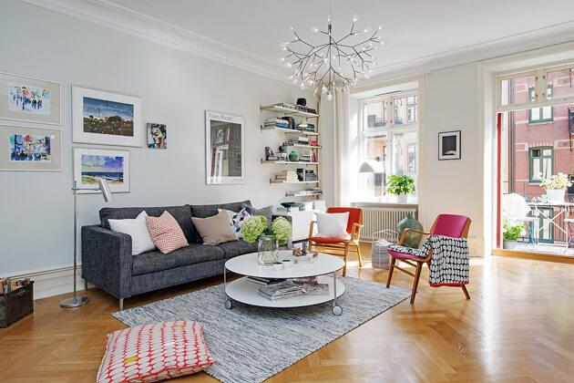 Mê tít cách trang trí căn hộ Scandinavian truyền cảm hứng đầy màu sắc 1