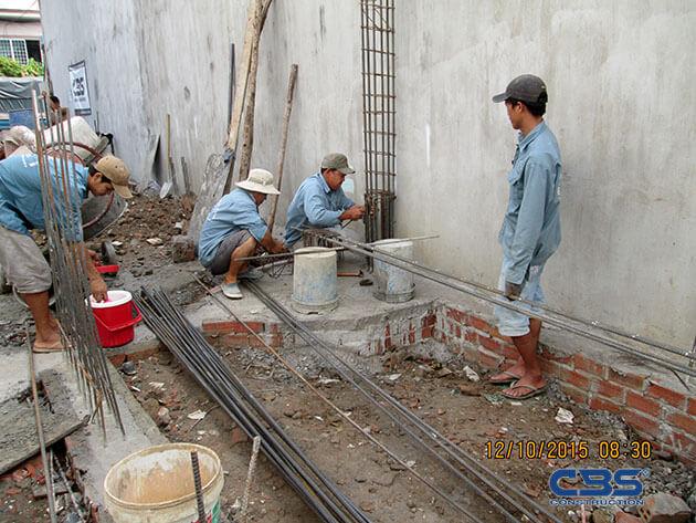 Khởi công công trình nhà anh Minh (4m x25,3m) - P. Tây Thạnh, Q. Tân phú 19