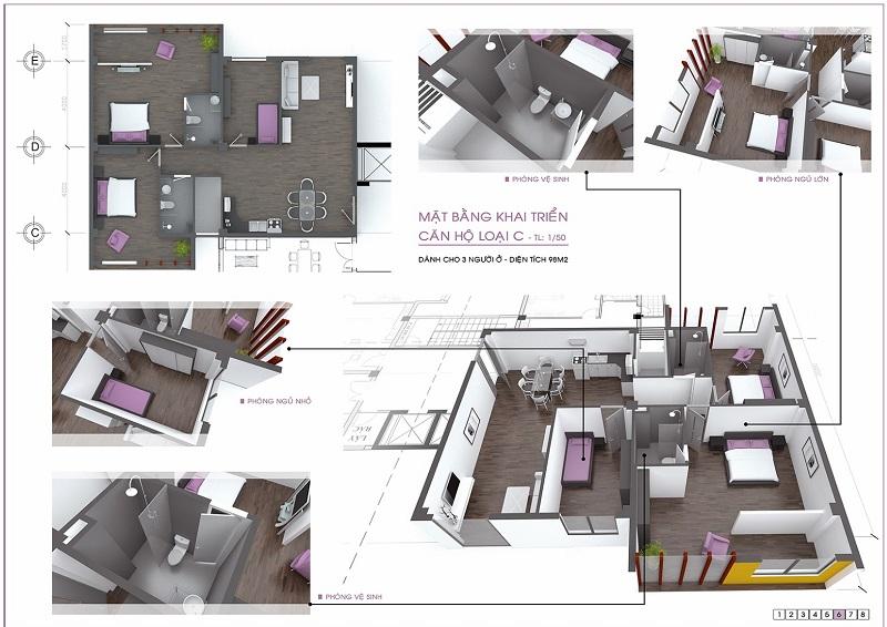 Đồ án chung cư thấp tầng: tổng hợp các bản vẽ thiết kế đẹp 2