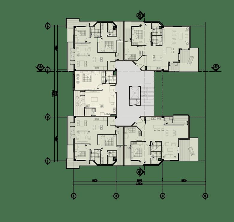 Đồ án chung cư thấp tầng: tổng hợp các bản vẽ thiết kế đẹp 11