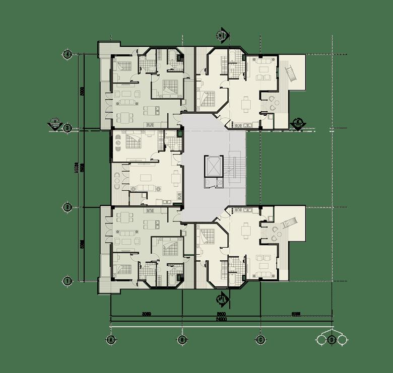 Đồ án chung cư thấp tầng: tổng hợp các bản vẽ thiết kế đẹp 12