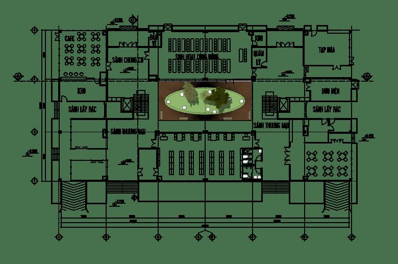Đồ án chung cư thấp tầng: tổng hợp các bản vẽ thiết kế đẹp 14