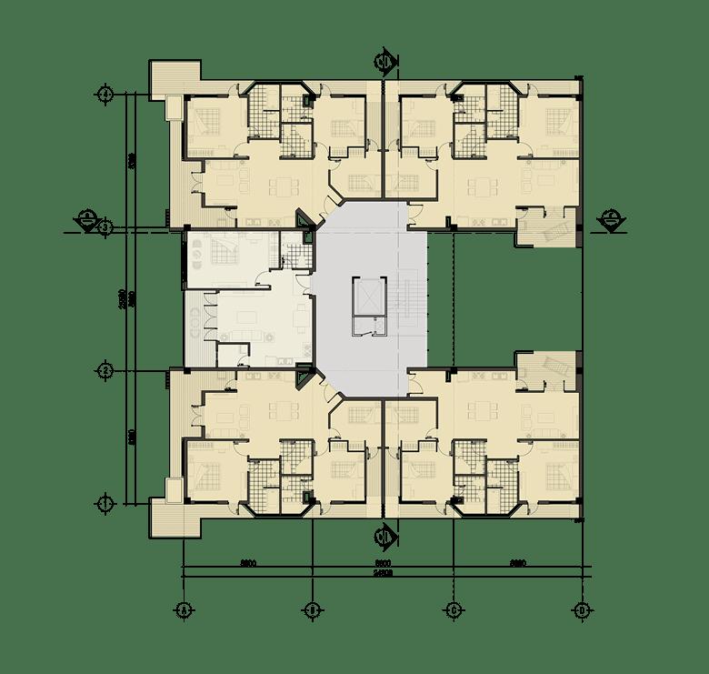 Đồ án chung cư thấp tầng: tổng hợp các bản vẽ thiết kế đẹp 9