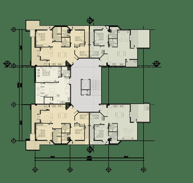 Đồ án chung cư thấp tầng: tổng hợp các bản vẽ thiết kế đẹp 10