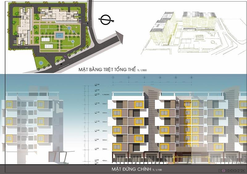 Đồ án chung cư thấp tầng: tổng hợp các bản vẽ thiết kế đẹp 1