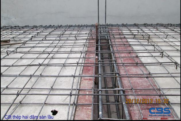 Hình ảnh thi công kết cấu nhà anh Roản An Lộc 25