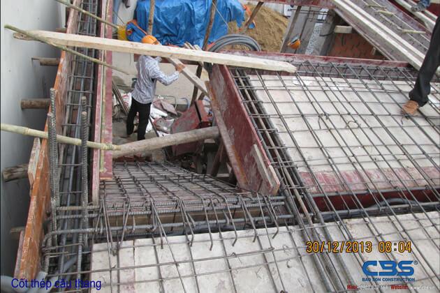 Hình ảnh thi công kết cấu nhà anh Roản An Lộc 26