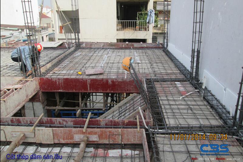 Hình ảnh thi công kết cấu nhà anh Roản An Lộc 27