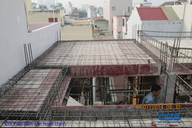 Hình ảnh thi công kết cấu nhà anh Roản An Lộc 28