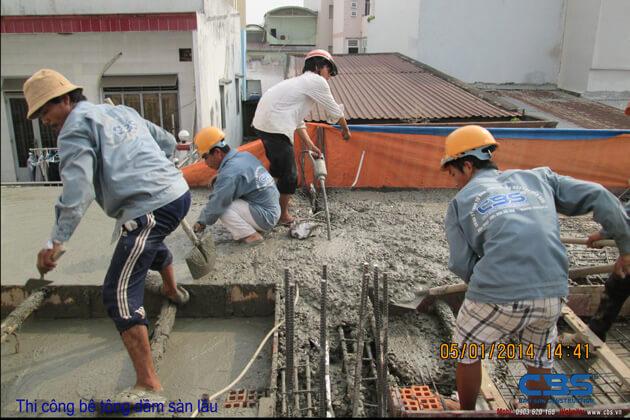Hình ảnh thi công kết cấu nhà anh Roản An Lộc 30