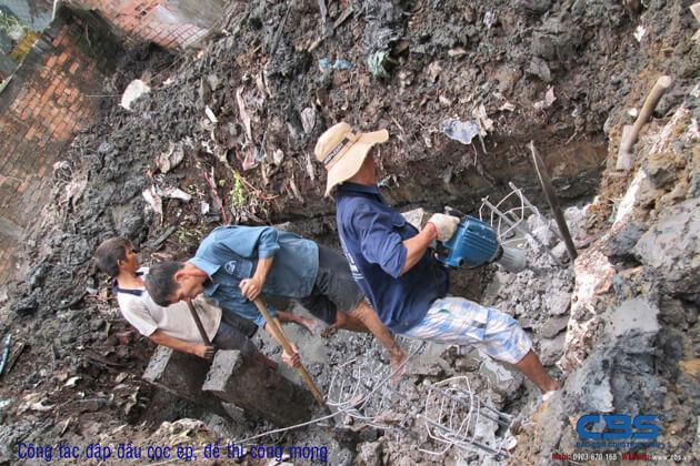 Hình ảnh thi công kết cấu nhà anh Roản An Lộc 4