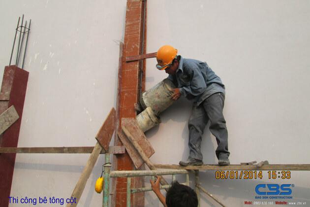 Hình ảnh thi công kết cấu nhà anh Roản An Lộc 33
