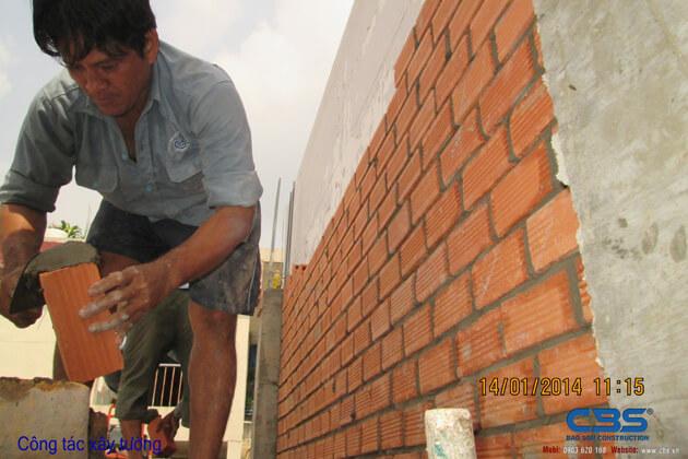 Hình ảnh thi công kết cấu nhà anh Roản An Lộc 35