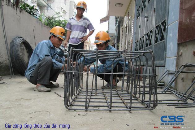 Hình ảnh thi công kết cấu nhà anh Roản An Lộc 5