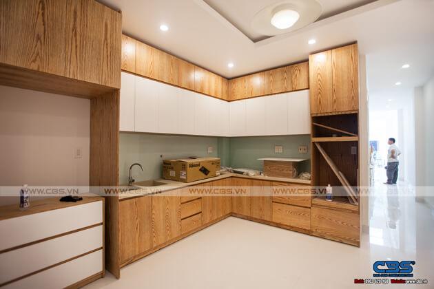 Tổng hợp một số mẫu bếp đẹp cho nhà phố hiện đại 12