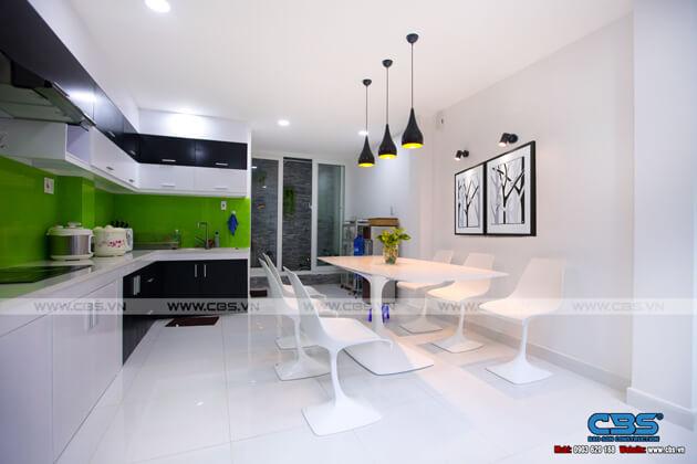 Tổng hợp một số mẫu bếp đẹp cho nhà phố hiện đại 4