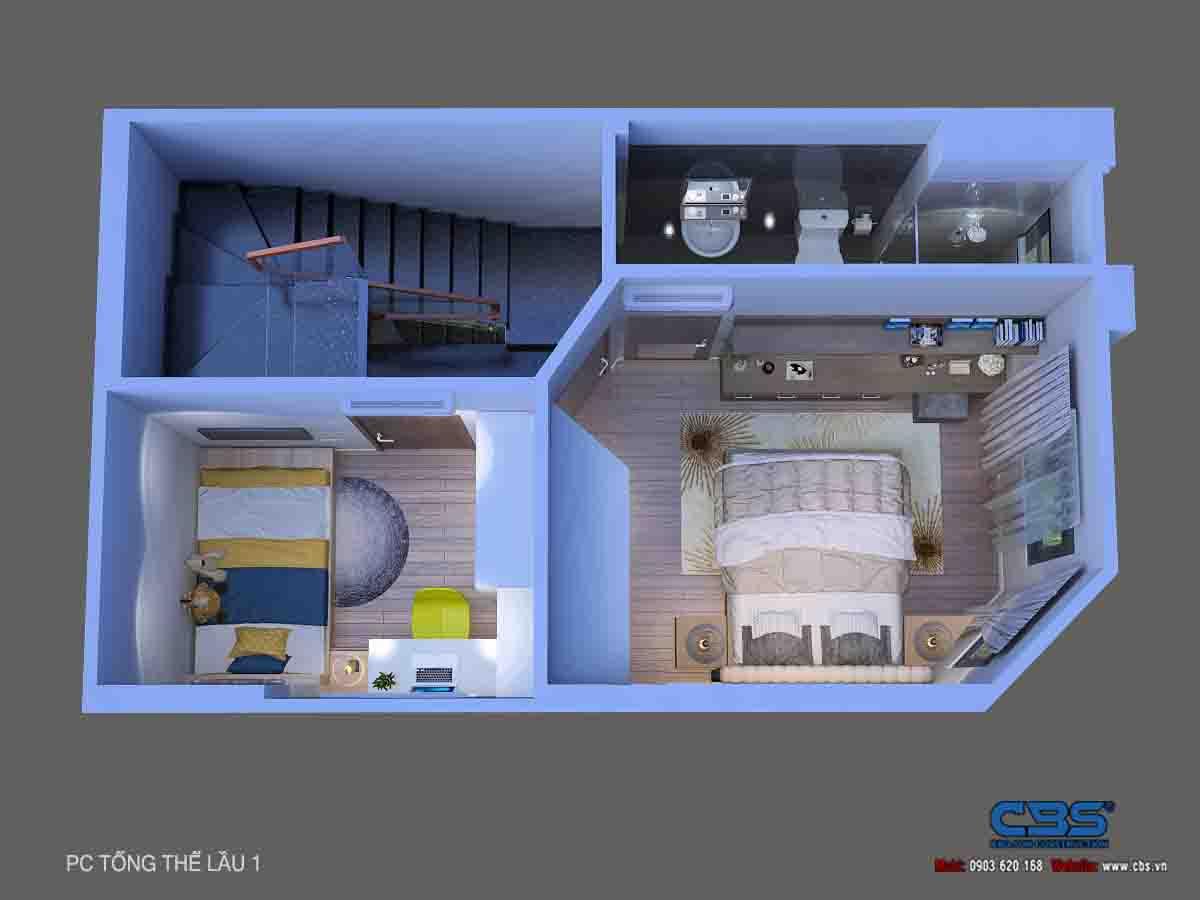 Mẫu nhà diện tích chỉ 4,5m x 7m chỉ hai lầu nhưng có tới 4 phòng ngủ với đầy đủ tiện nghi, đẹp và thoáng đến không tưởng... 27