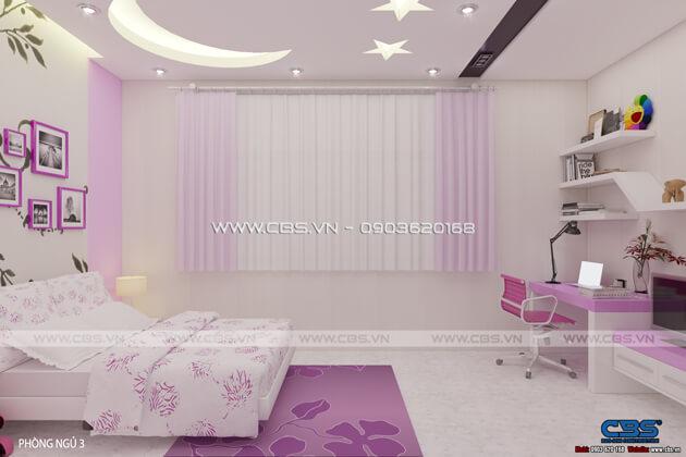Các mẫu phòng ngủ sắc hồng đáng yêu dành cho bé gái 2