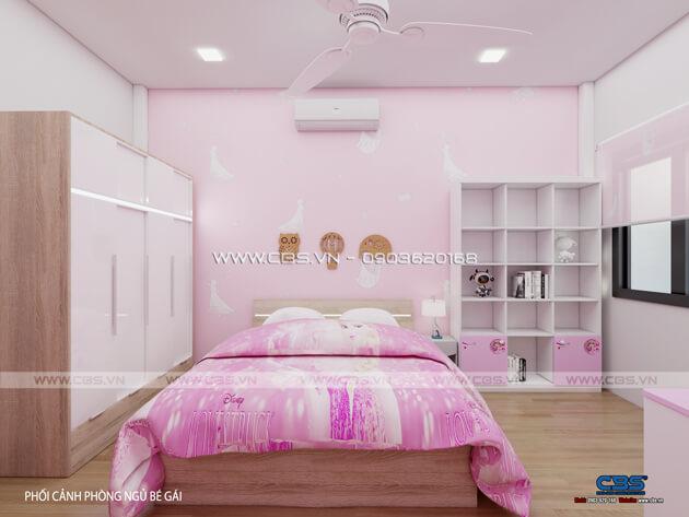 Các mẫu phòng ngủ sắc hồng đáng yêu dành cho bé gái 13
