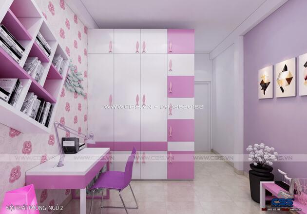 Các mẫu phòng ngủ sắc hồng đáng yêu dành cho bé gái 15