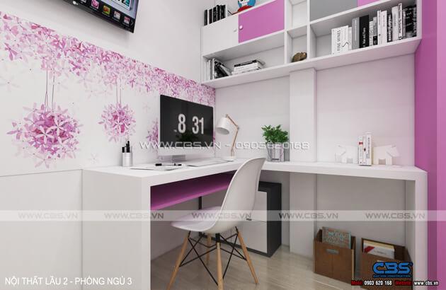 Các mẫu phòng ngủ sắc hồng đáng yêu dành cho bé gái 16