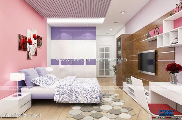 Các mẫu phòng ngủ sắc hồng đáng yêu dành cho bé gái 17