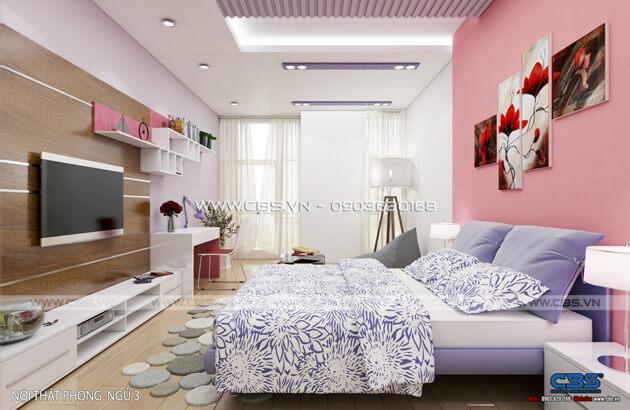 Các mẫu phòng ngủ sắc hồng đáng yêu dành cho bé gái 18