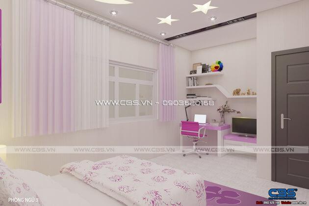 Các mẫu phòng ngủ sắc hồng đáng yêu dành cho bé gái 3