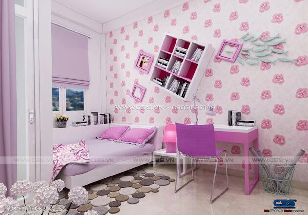 Các mẫu phòng ngủ sắc hồng đáng yêu dành cho bé gái 5
