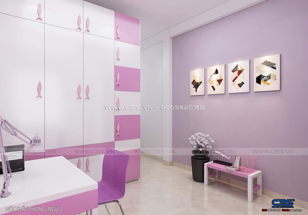 Các mẫu phòng ngủ sắc hồng đáng yêu dành cho bé gái 7