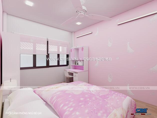 Các mẫu phòng ngủ sắc hồng đáng yêu dành cho bé gái 10