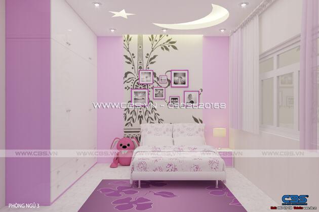 Các mẫu phòng ngủ sắc hồng đáng yêu dành cho bé gái 1