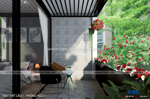 Mẫu thiết kế cho nhà phố diện tích 4m x 10m 20