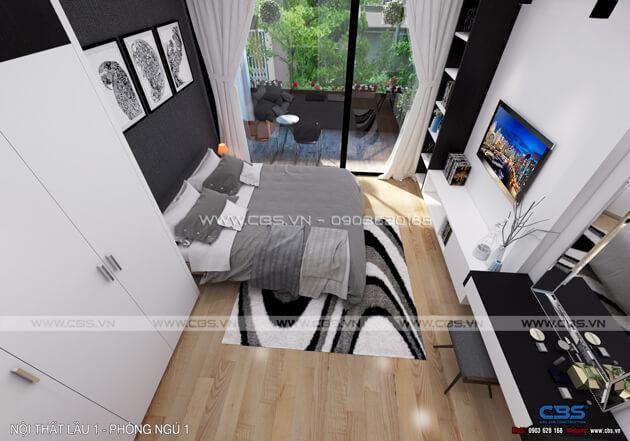 Mẫu thiết kế cho nhà phố diện tích 4m x 10m 21