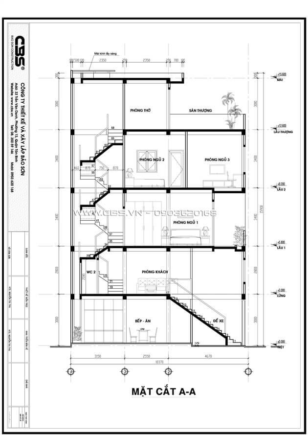 Mẫu thiết kế cho nhà phố diện tích 4m x 10m 1
