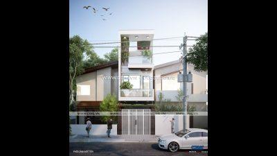 Mẫu thiết kế nhà 3 tầng lầu 3,6m x 15m – hiện đại sang trọng trên mọi góc nhìn