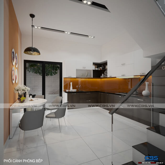Mẫu thiết kế nhà phố 1 trệt 1 lầu đơn giản và đẹp mắt 7