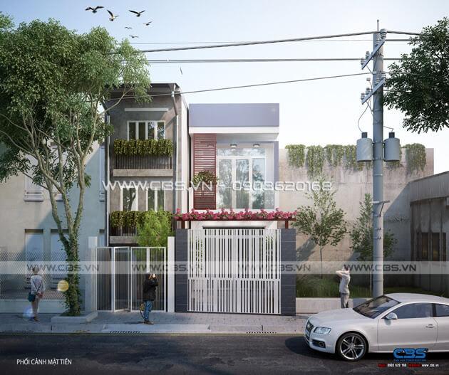 Mẫu thiết kế nhà phố 1 trệt 1 lầu đơn giản và đẹp mắt 1