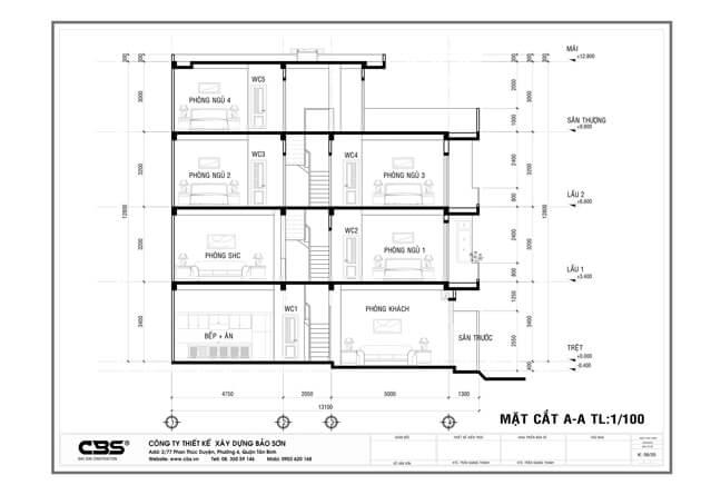 Thiết kế nhà phố bán cổ điển sang trọng tại Bình Dương (5m x 13m) 30