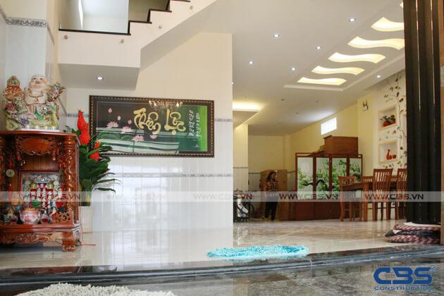 Bàn giao công trình nhà ở gia đình cô Xuân (8m x12m) 13
