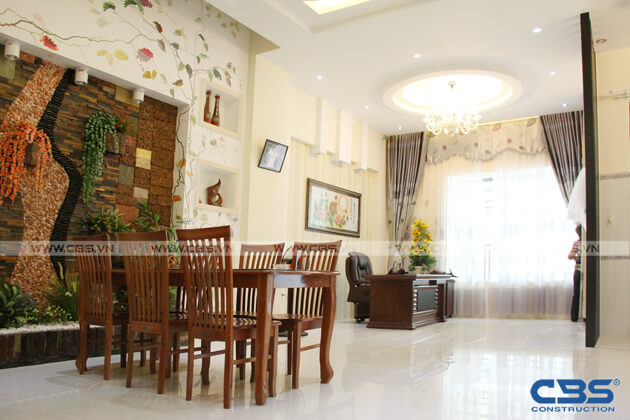Bàn giao công trình nhà ở gia đình cô Xuân (8m x12m) 6
