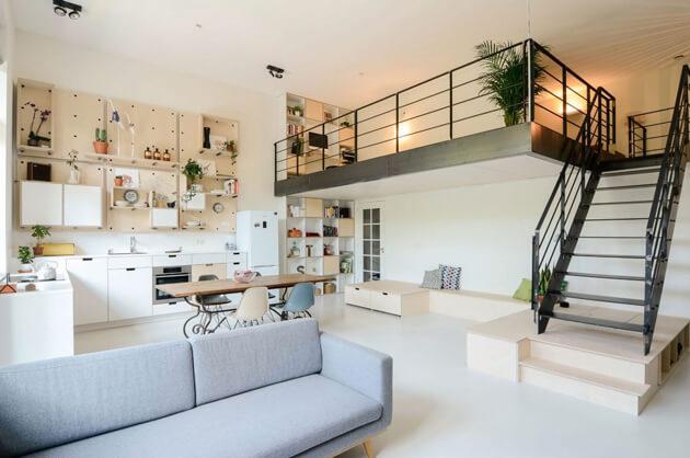 Ngôi nhà gây ấn tượng với gác lửng tuyệt đẹp 1