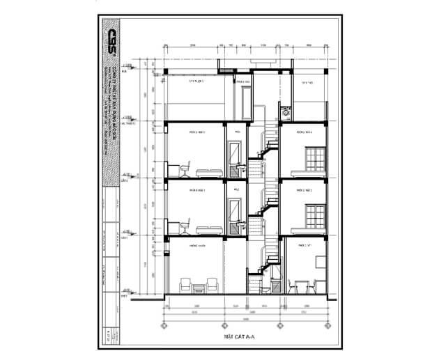 Mẫu thiết kế nhà phố 4 tầng lầu đẹp chỉ với diện tích 30m2 2