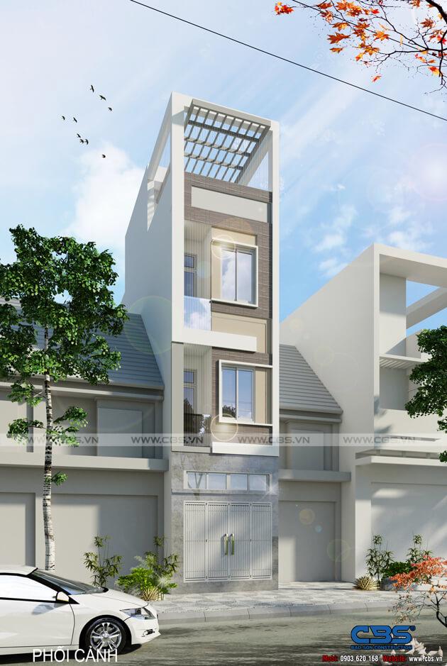 Mẫu thiết kế nhà phố 4 tầng lầu đẹp chỉ với diện tích 30m2 1